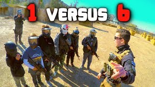 Pro Airsoft Player VS Birthday Party (1v6) - 500,000 Subscriber Special