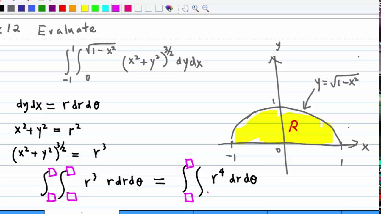 Convert Double Integral using Polar Coordinates