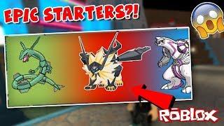 RANDOMIZER MODE GAVE ME THIS STARTER IN ROBLOX?!! (Pokemon Brick Bronze Limiter Challenge)