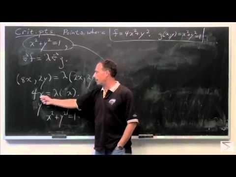 Worldwide Calculus: Lagrange Multipliers