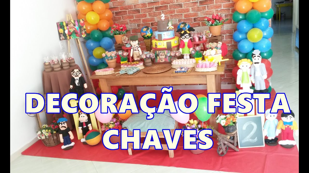 Decoracao Yotube ~ DECORA u00c7ÃO DE FESTA CHAVES Alice 2 aninhos YouTube