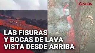 VOLCÁN de La Palma: Las impactantes fisuras y bocas de la LAVA del volcán Cumbre Vieja en España