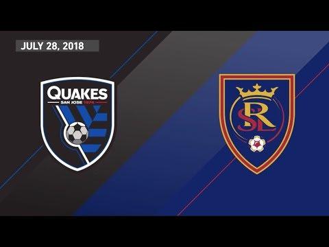 HIGHLIGHTS: San Jose Earthquakes vs. Real Salt Lake | July 28, 2018