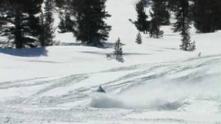 Snowmobiling in the Eastern Sierra, California