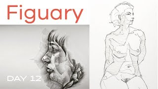 Figuary Day 12: Shading Methods - Hatching Smudging & More