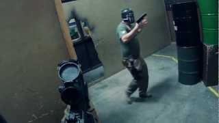 Airsoft action at Insight Interactive indoor with KWA MP7