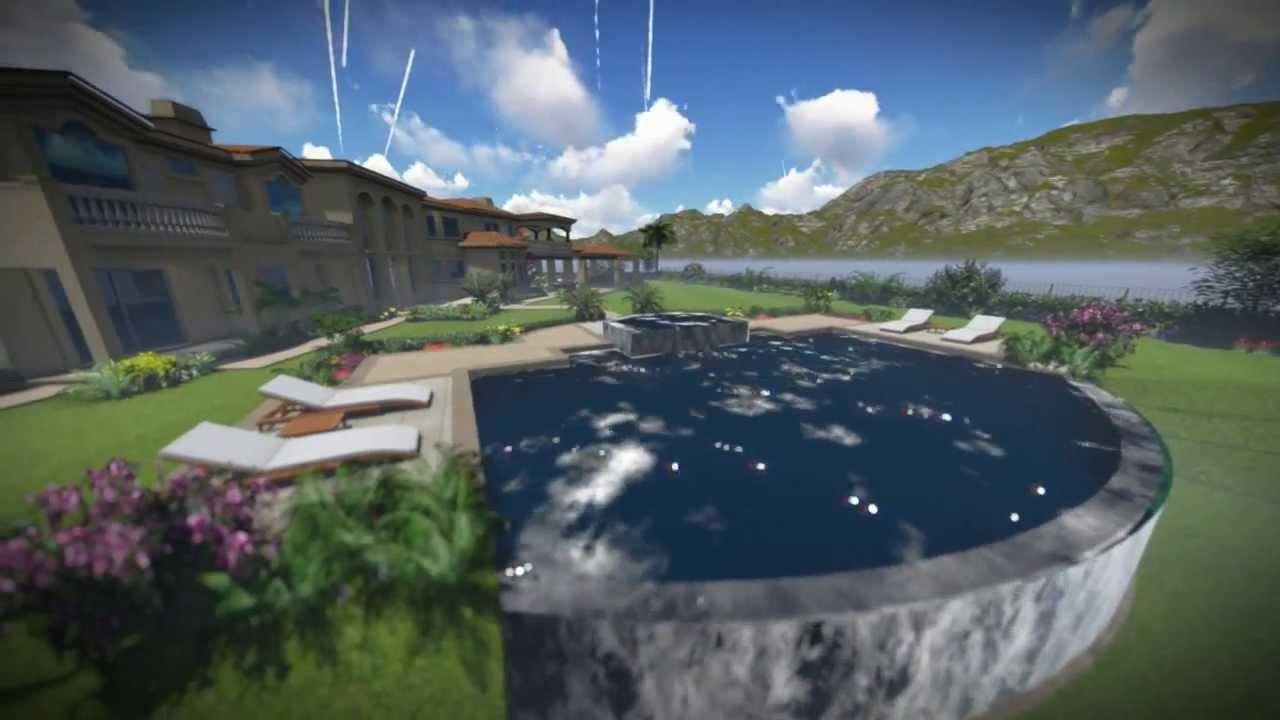 Riverside Landscape Design Custom Pool Outdoor