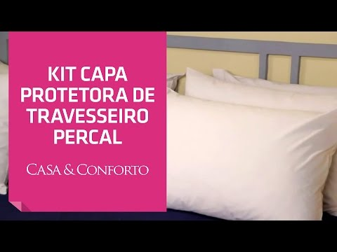 Kit Capa Protetora de Travesseiro Percal 200 Fios Casa & Conforto | Shoptime