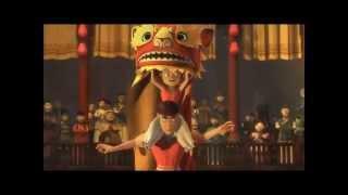 Cartoons Lion dance. Danza del leon. Escuela de kung fu - tai chi Hong Kun . Toledo