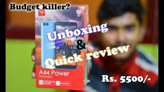Itel A44 Power Unboxing & quick review