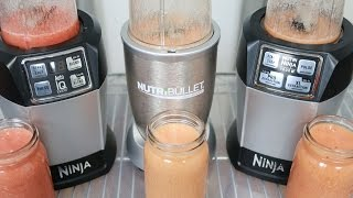 nutri ninja auto iq vs nutribullet 900 vs nutri ninja pro complete