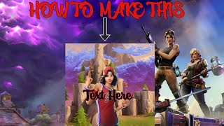 How To Make A Fortnite YouTube Logo! (Works For iPhone iPod iPad)