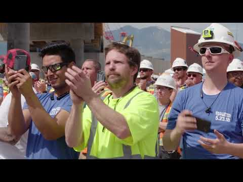 Salt Lake CIty International Airport Topping Out Ceremony
