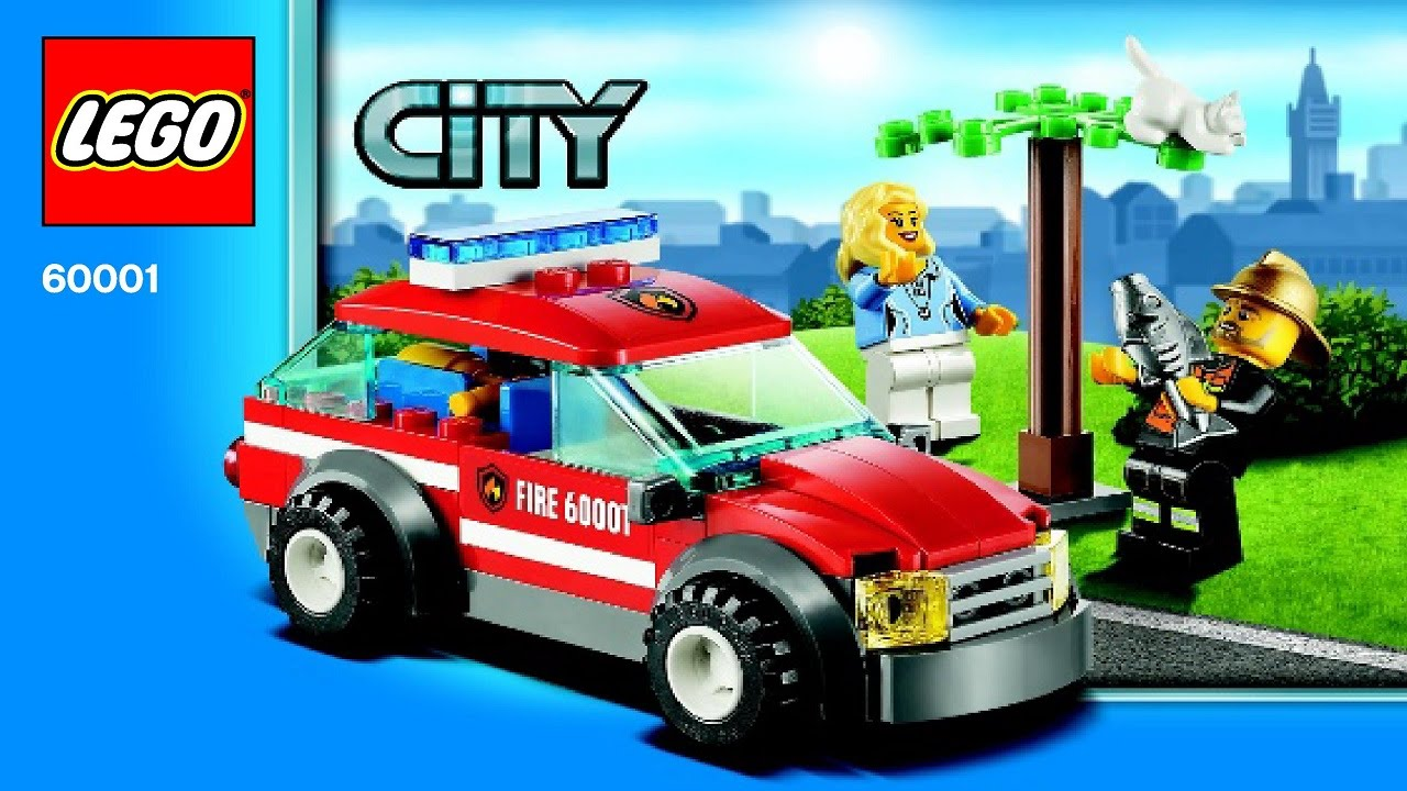 60001 Lego Fire Chief Car City Fire Instruction Booklet Youtube