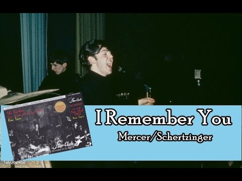 The Beatles - I Remember You (Lyrics)