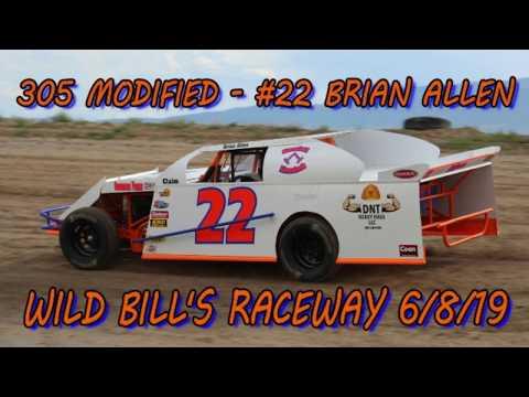 In Car - 305 Modified- #22 Brian Allen - Wild Bill's Raceway 6/7/19