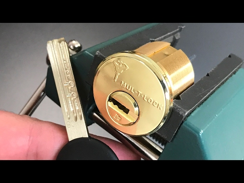 Взлом отмычками Mul-T-Lock   [487] Mul-T-Lock Jr. Picked and Gutted ()