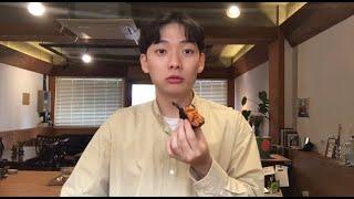 카페알바생의 삼각김밥먹방