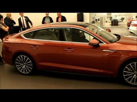 New 2017 Audi A5 Sportback-exterior,dynamic turning signal etc (walkaround)