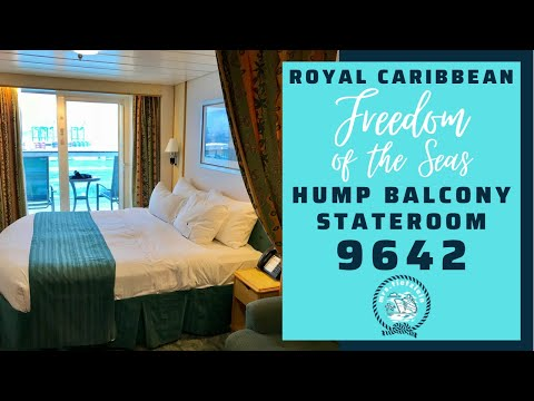 Freedom Liberty Independence of the Seas Spacious Balcony Stateroom Cabin 9642 Center Hump