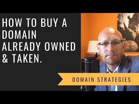 How Do You Buy A Domain Name Already Taken.