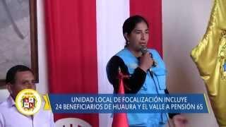 09 04 DISTRITO DE HUAURA tiene 24 nuevos beneficiarios en el programa Pensión 65