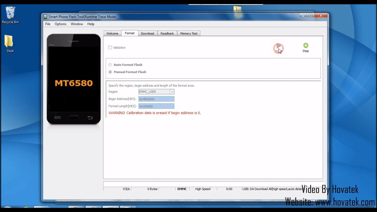 How to format a single partition in Mediatek using SP Flash tool
