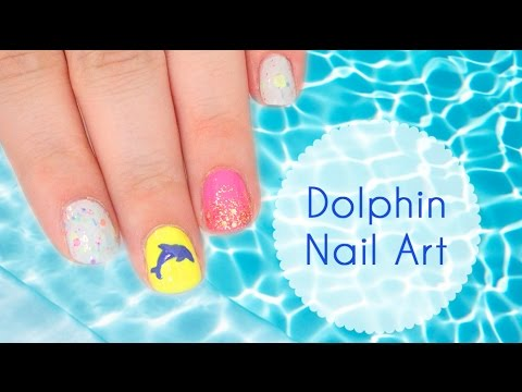 Dolphin Nail Art Tutorial - Dolphin Nail Art Tutorial - YouTube