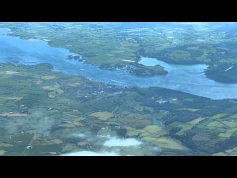Aerial view of Portaferry and Strangford, Co.Down, summer 2015.