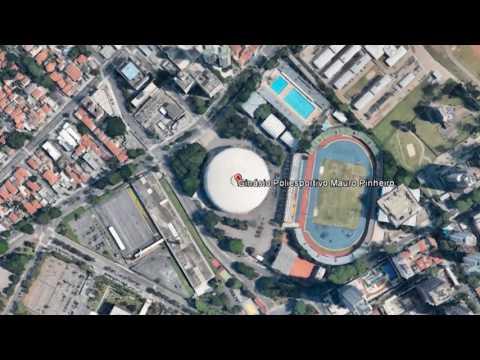 GOOGLE MAP  Ginásio do Ibirapuera in São Paulo, Brazil