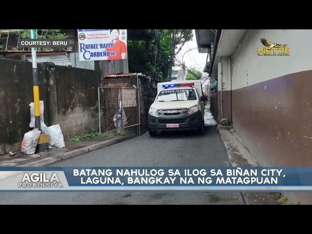 Batang nahulo sa ilog sa Biñan City, Laguna, bangkay na nang matagpuan