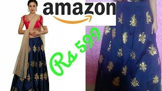 Amazon shopping haul & review || amazon lehenga choli rs 599