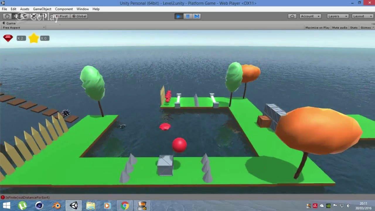 Platform Low Poly Game Unity [Level 2]