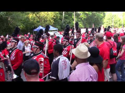 UGA Redcoat Band Enters Sanford Stadium