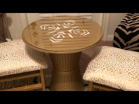 DIY kids table and chair set using items from  99 cent store and a thrift store!!!