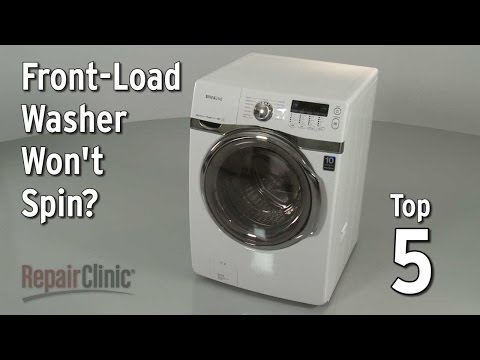Front-Load Washer Won't Spin — Washing Machine Troubleshooting