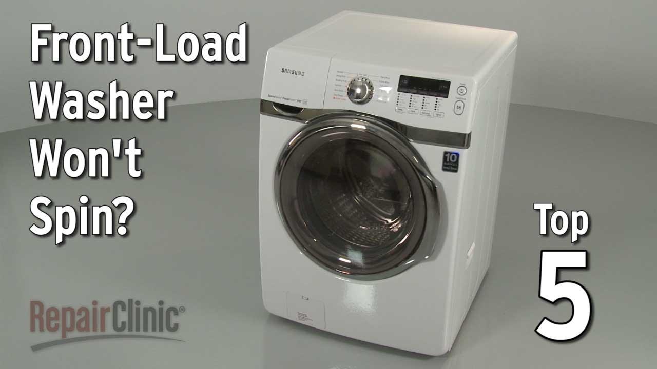FrontLoad Washer Won't Spin — Washing Machine