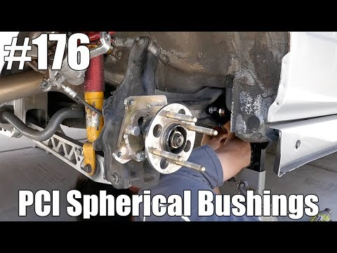 Replacing trailing arm bushings on a Civic! PCI Racing Sperical Bushings!