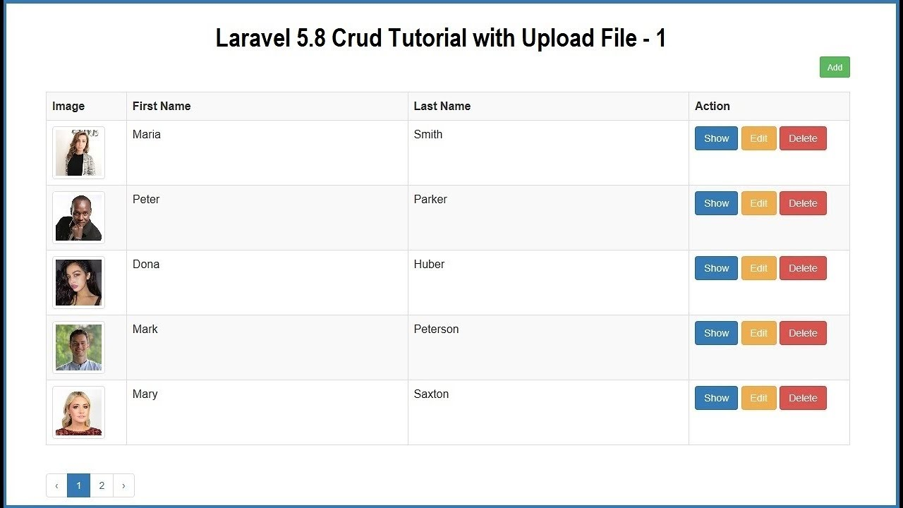 Step by Step CRUD Operation in Laravel 5 8 with File Upload | Webslesson