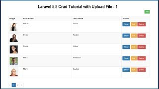 Laravel 5.8 Crud Tutorial with Upload File - 1