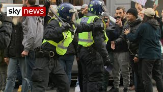 COVID-19: More than 150 arrests as anti-lockdown protesters clash with police in London