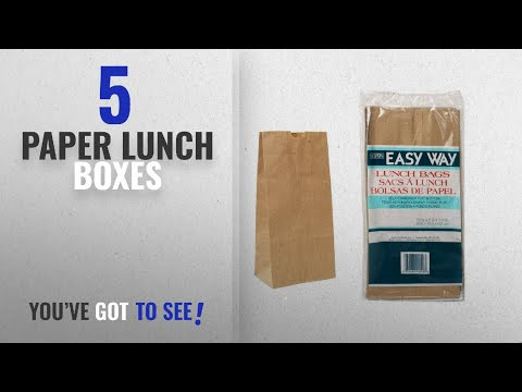 Best Paper Lunch Boxes [2018]: 60-Piece Brown Paper Lunch Bag