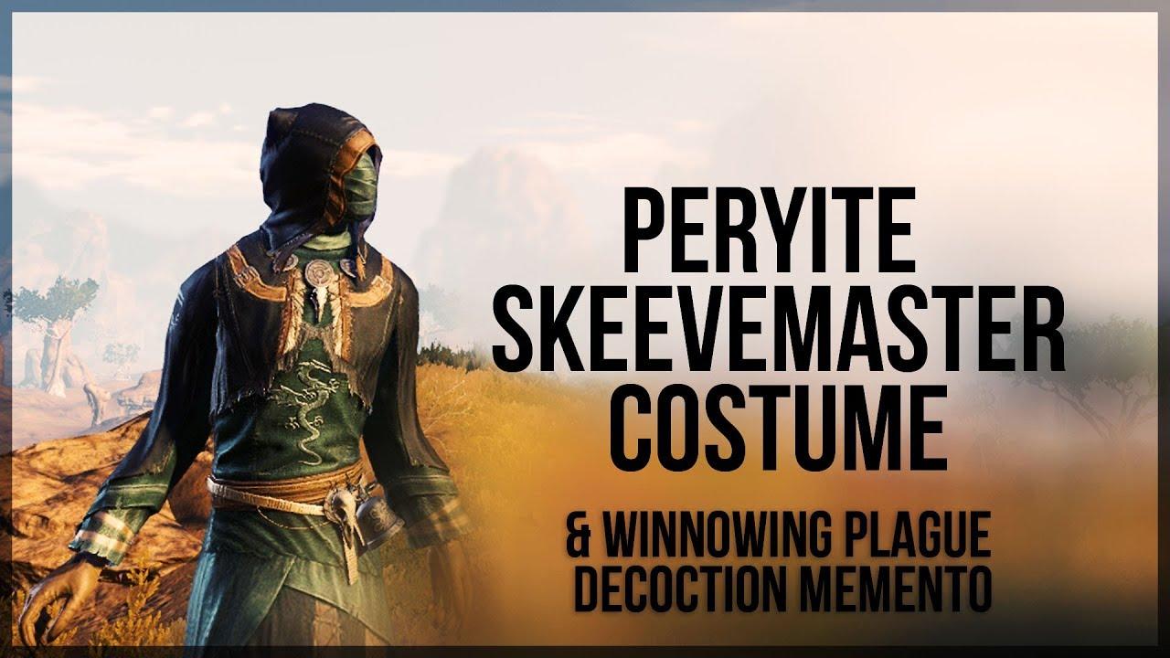 ESO Peryite Skeevemaster Costume & Winnowing Plague Decoction Memento