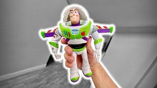 BUZZ LIGHTYEAR QUE ANDA DE VERDADE 😱 Brinquedo do Filme Toy Story 4 - Brancoala