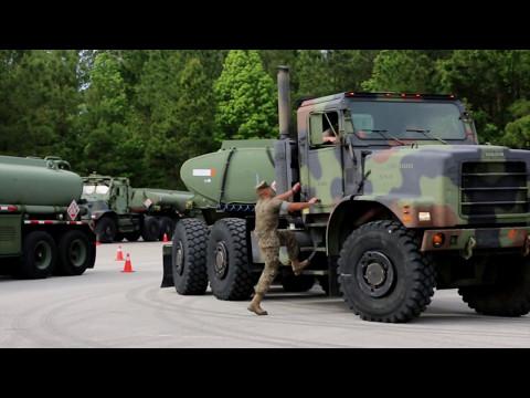 II MEF Marines truck through refueler course on MCAS Cherry Point