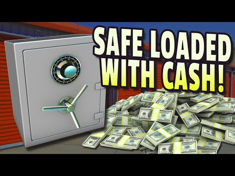 $26,420.00 safe full of cash Best storage auction find ever! best unbox unboxing video treasure