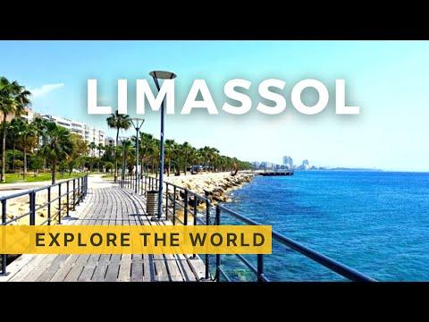 Walking In LIMASSOL 4K, Cyprus