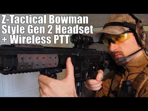 AIRSOFT | REVIEW | TBC | Z-Tactical Bowman Style Gen 2 Headset + Wireless PTT ( ENGLISH SUBS )