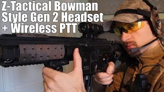 AIRSOFT ‪|‬ REVIEW | TBC | Z-Tactical Bowman Style Gen 2 Headset + Wireless PTT ( ENGLISH SUBS )