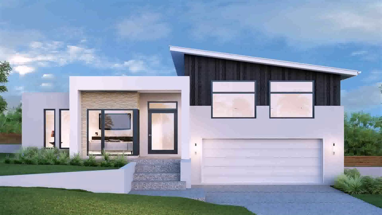 Two story house plans upstairs living nz youtube for Mono pitch house plans